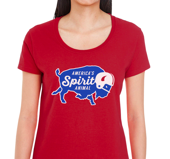 Ladies Scoop, Red (100% cotton)