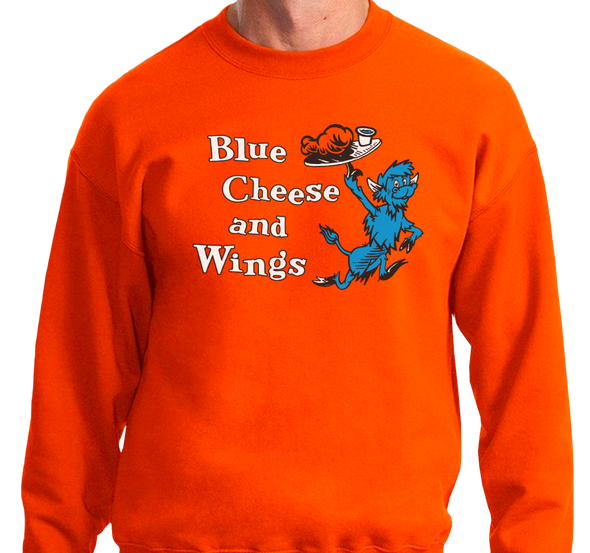 Crewneck Sweatshirt, Orange (50% cotton, 50% polyester)