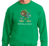 Crewneck Sweatshirt, Green (50% cotton, 50% polyester)