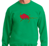 Crewneck Sweatshirt, Kelly Green (50% cotton, 50% polyester)