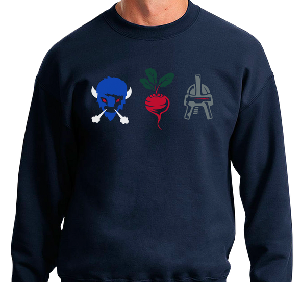 Crewneck Sweatshirt, Navy (50% cotton, 50% polyester)