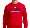 Crewneck Sweatshirt, Red (50% cotton, 50% polyester)