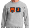 Crewneck Sweatshirt, Ash (50% cotton, 50% polyester)