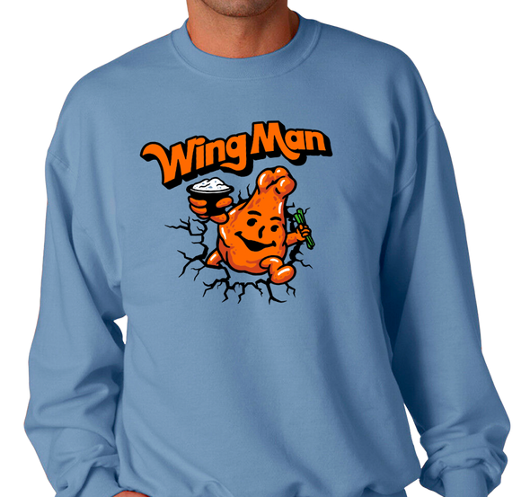 Crewneck Sweatshirt, Light Blue (50% cotton, 50% polyester)