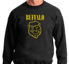Crewneck Sweatshirt, Black (50% cotton, 50% polyester)