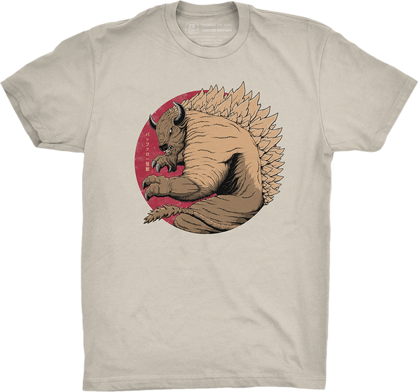 "Buffalo Vol. 6, Shirt 17: ""Kaiju"" (sand color preview)"