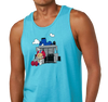 Unisex Tank Top, Tahiti Blue (100% cotton)