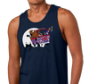 Unisex Tank Top, Heather Navy (60% cotton, 40% polyester)