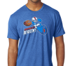 Tri-Blend T-Shirt, Vintage Royal (50% polyester, 25% cotton, 25% rayon)