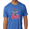 Tri-Blend T-Shirt, Vintage Royal (50% cotton, 25% polyester, 25% rayon)