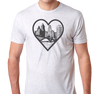 Tri-Blend T-Shirt, Heather White (50% polyester, 25% cotton, 25% rayon)