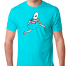 Tri-Blend T-Shirt, Tahiti Blue (50% cotton, 25% polyester, 25% rayon)