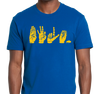 Unisex T-Shirt, Gold on Royal (100% cotton)