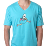 Unisex V-Neck, Tahiti Blue (100% cotton)