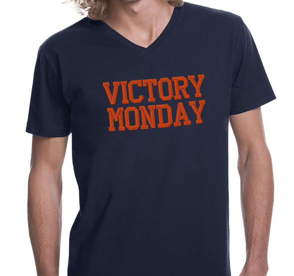 Unisex V-Neck, Navy (100% cotton)