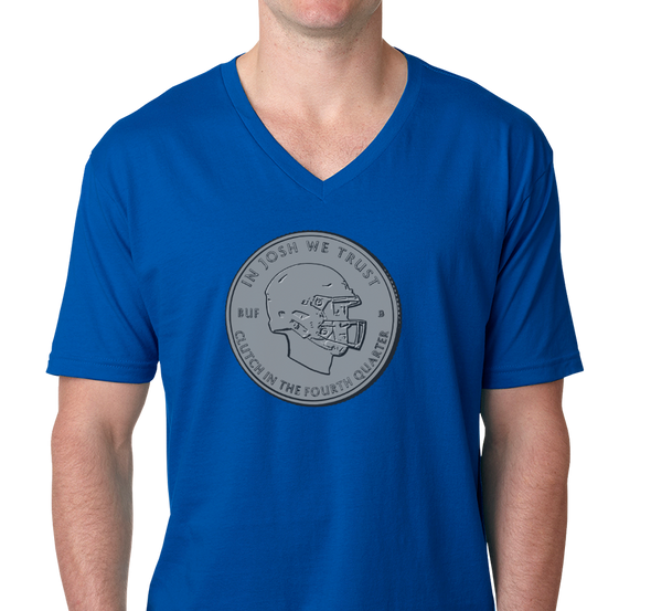 Unisex V-Neck, Royal (100% cotton)