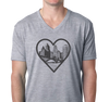 Unisex V-Neck, Heather Gray (90% cotton, 10% polyester)