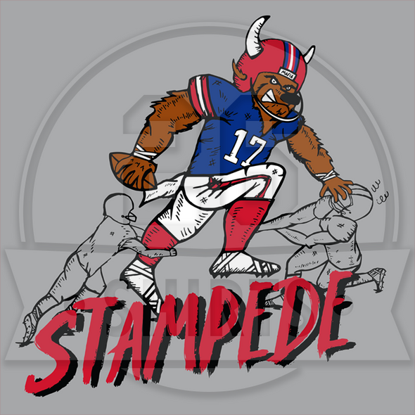 "Buffalo Vol. 7, Shirt 26: ""QB Stampede"""