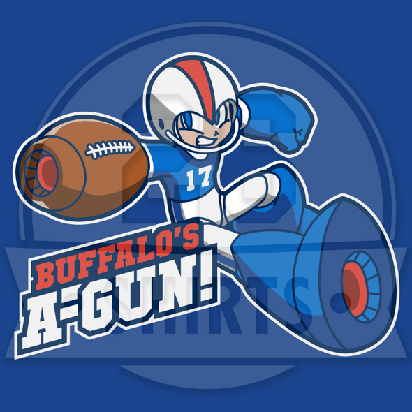 "Buffalo Vol. 8, Shirt 18: ""Buffalo's A-Gun"""