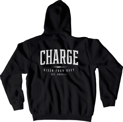 CHARGE: Wordmark zip-up hoody