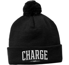 CHARGE: Wordmark pom beanie