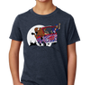 Youth T-Shirt, Heather Navy (60% cotton, 40% polyester)