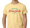 Youth T-Shirt, Banana Cream (60% cotton, 40% polyester)