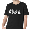Youth T-Shirt, White on Black (100% cotton)