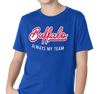 Youth T-Shirt, Red on Royal (100% cotton)