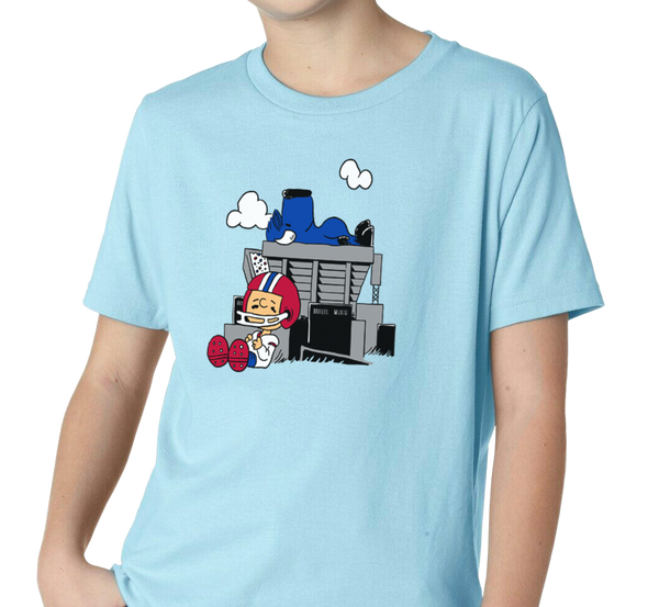 Youth T-Shirt, Light Blue (100% cotton)