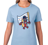 Ladies T-Shirt, Baby Blue (100% cotton)