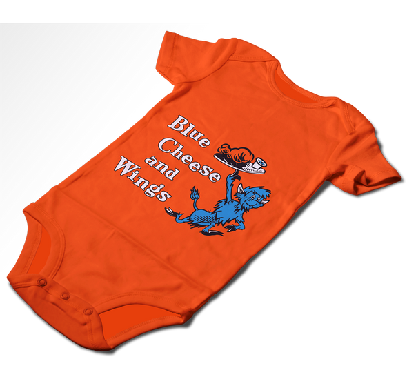Baby Onesie, Orange (100% cotton)