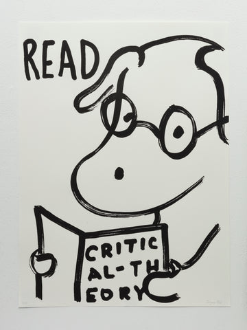 READ poster with a cute dog