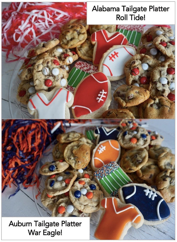 Football Tailgate Cookie platter