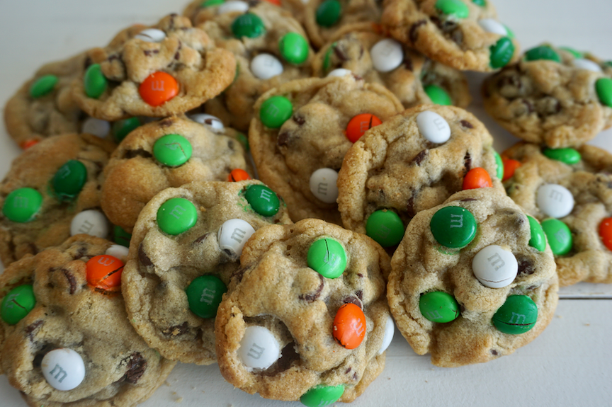 St. Patrick's Day M&M Chocolate Chip Cookies