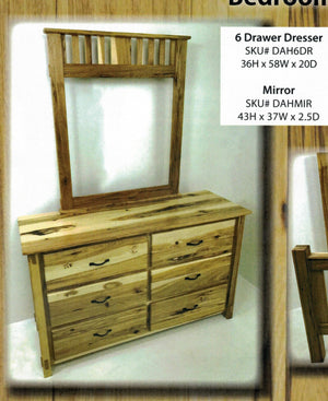 Dutch All Hickory Dresser with Mirror by Hilltop Furniture