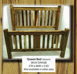 Dutch All Hickory Headboard/Bed by Hilltop Furniture