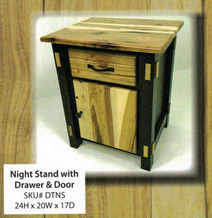 Dutch Two Tone Nightstand by Hilltop Furniture