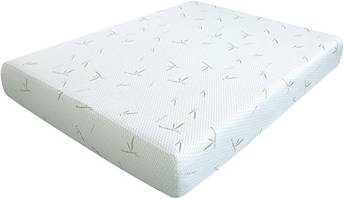 "Dreamer 10"" Memory Foam Mattress with Bamboo Cover"