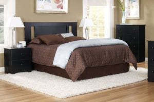 Black Headboard with Side Styles by Perdue
