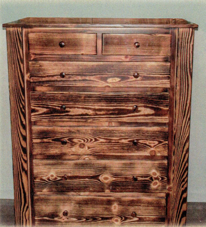 Charred Pine 7 Drawer Chest by Waterfall Woodcraft