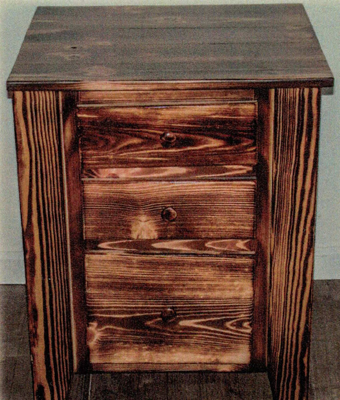Charred Pine Nightstand by Waterfall Woodcraft