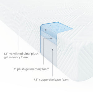"Wellsville 11"" Gel Memory Foam Mattress"