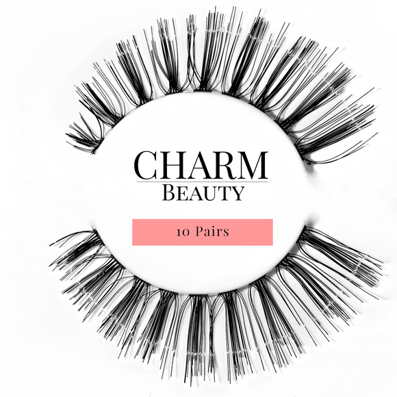 #48 Human Hair Lashes - Pro MUA Lashes - Charm Beauty Lashes - www.charmbeautylashes.com.au