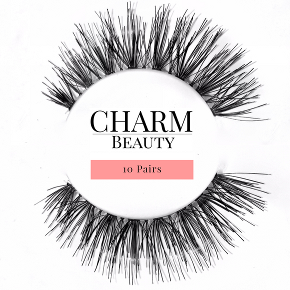 #217 / #523 Human Hair Lashes - Pro MUA Lashes - Charm Beauty Lashes - www.charmbeautylashes.com.au