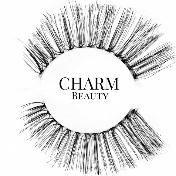 #510 Human Hair Lashes - Pro MUA Lashes - Charm Beauty Lashes - www.charmbeautylashes.com.au