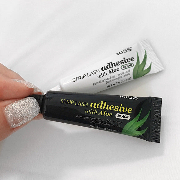 Kiss Strip Lash Adhesive with Aloe (Hypoallergenic) - Dark 7g