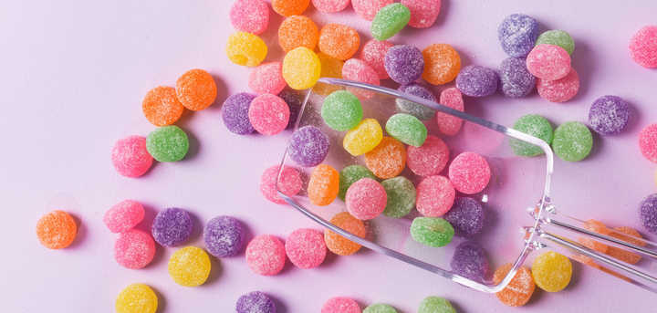 Colorful sugar candies