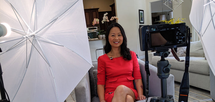 Dr. Julie Wei on a film set