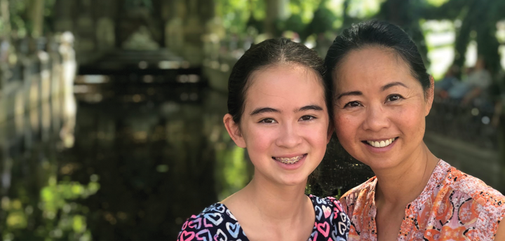 Dr. Julie Wei and her daughter